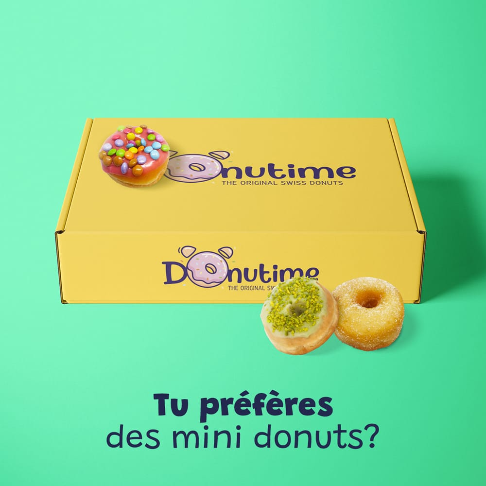 La box Mini Donuts Donutime